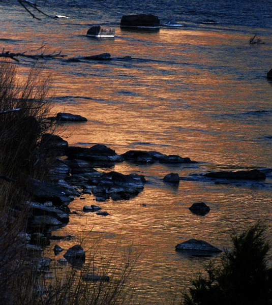 Reflected Afterglow on the Madison River