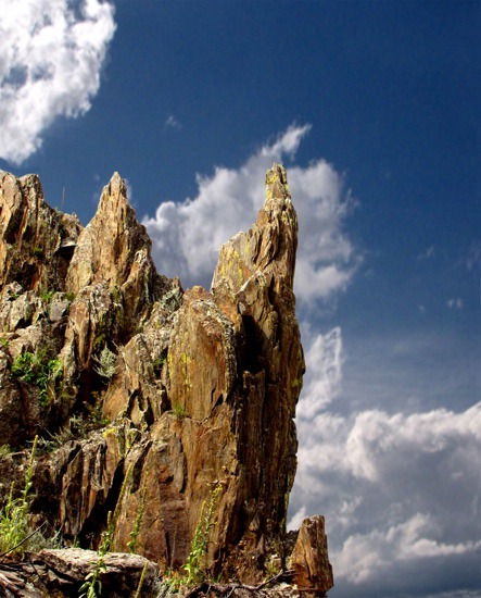Rock Outcrop and Sky 1