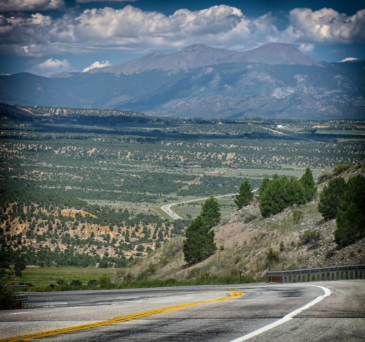 US HWY 285 North out of Salida CO Into Arkansas River Valley