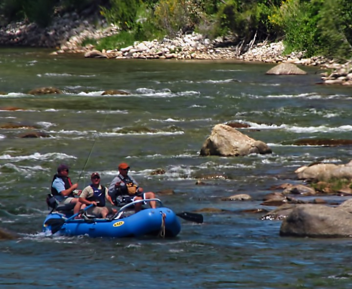 Guide Boat On The Arkansas River CO