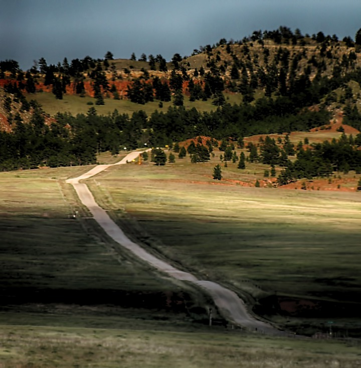 Road to Custer or Hot Springs