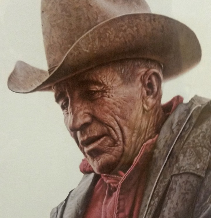 """Working Cowboy"" by James Bama (lithograph)"